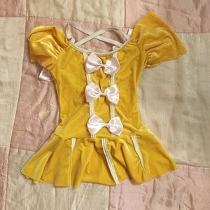 Other - Velvet Dance Outfit with Satin Bows and Trim
